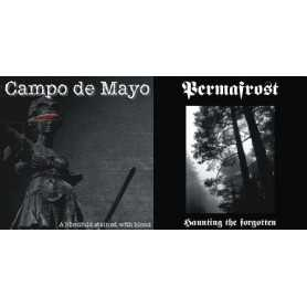 CAMPO DE MAYO / PERMAFROST - A Blindfold Stained with Blood / Haunting the Forgotten . CD