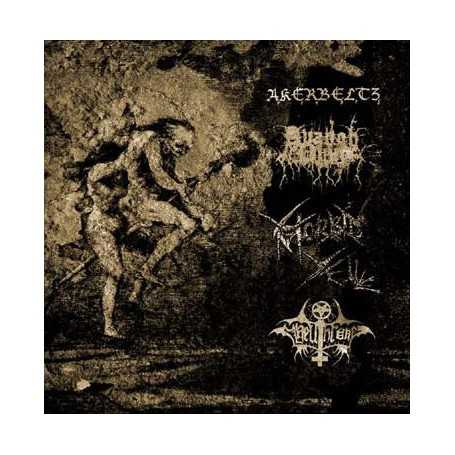 AKERBELTZ / AVANGH DHUR / MORBID YELL / HELLTHRONE - Split S/T . LP