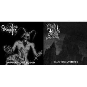 BLACK PRIEST OF SATAN / CRUCIFIXION WOUNDS - Desecration Rites/Black Soul Mysteries