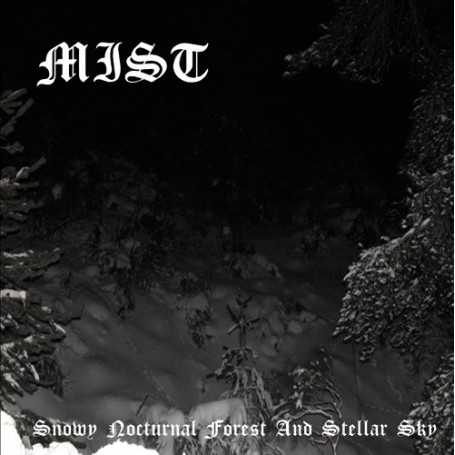 MIST - Snowy Nocturnal Forest and Stellar Sky . CD